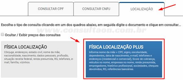 Consulta Localização Plus - ConsultaOn